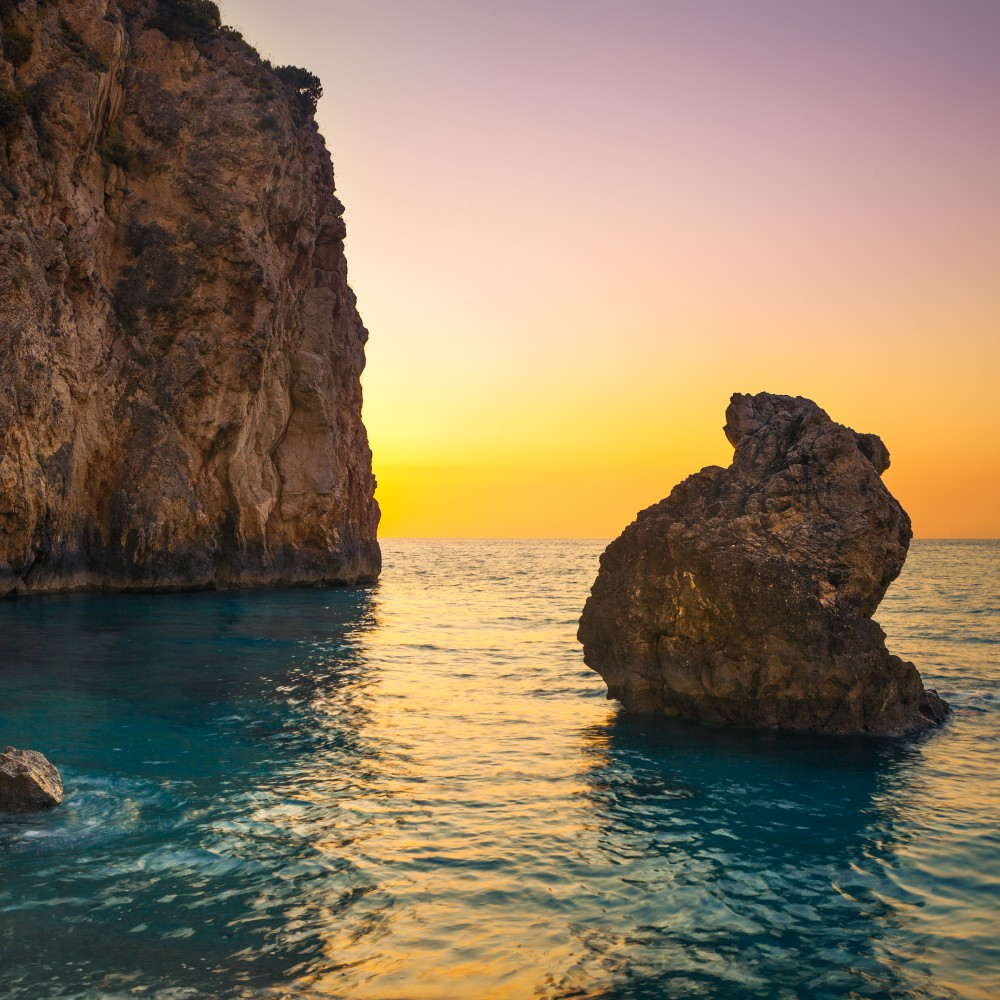 World___Greece_Sunset_at_Milos_Beach_on_Lefkada_island__Greece_060766_